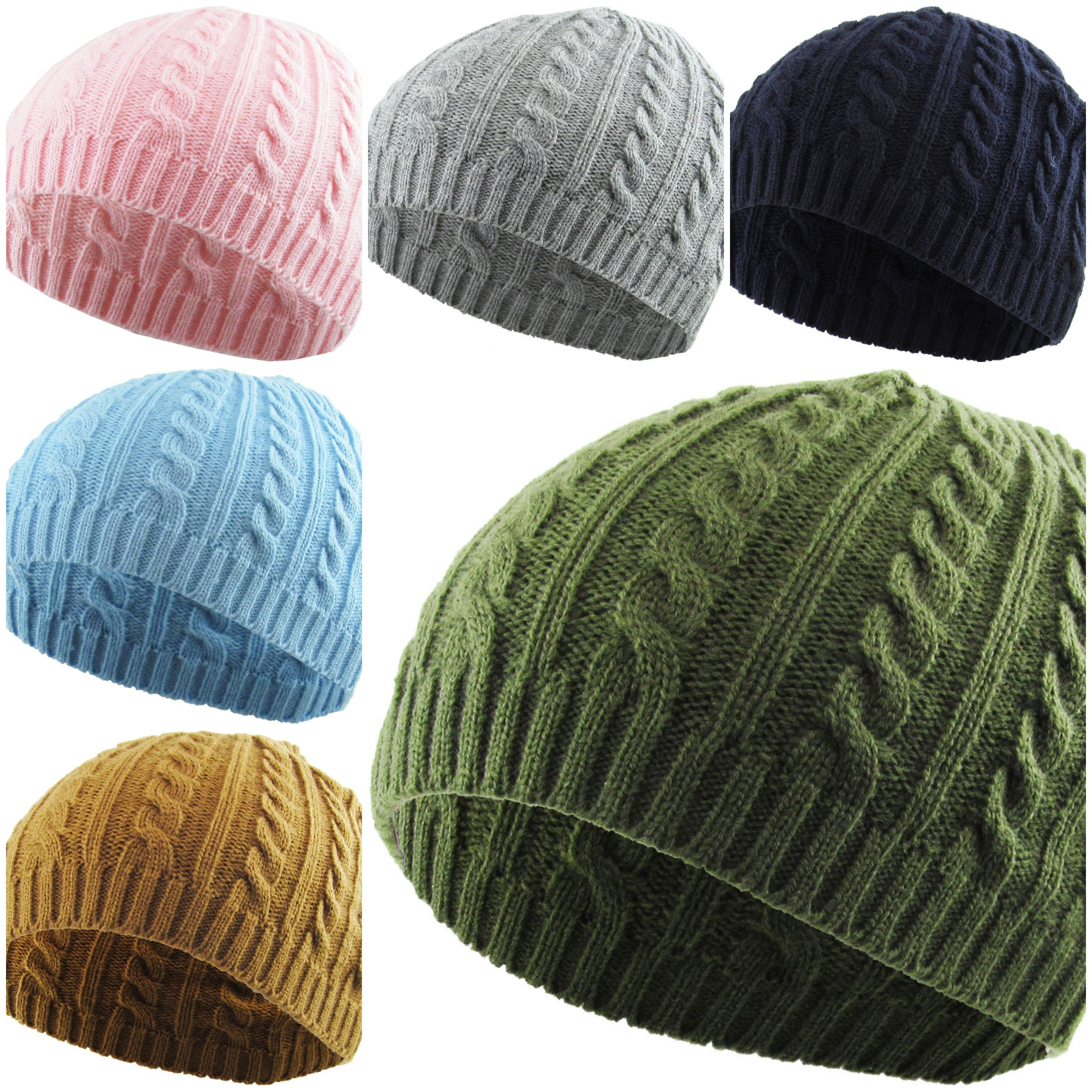 WOMENS CABLE KNIT Beanie - Short Beanie - Skully Hat - Mens Beanie - Beanie Knit Hat - Knitted