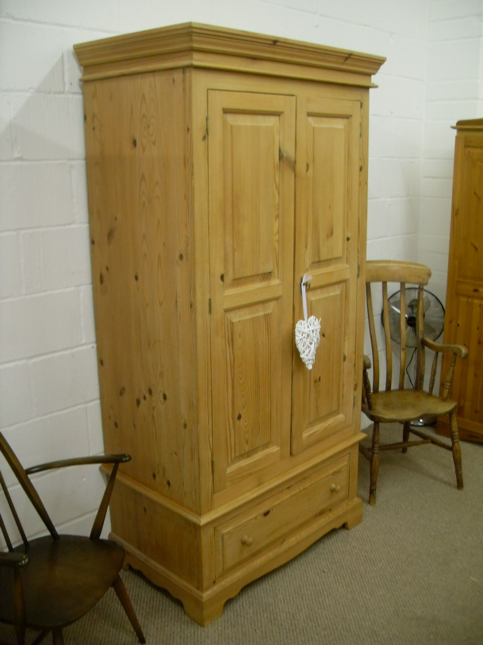 BEAUTIFUL SOLID PINE DOUBLE WARDROBE QUALITY MADE - £275 ...