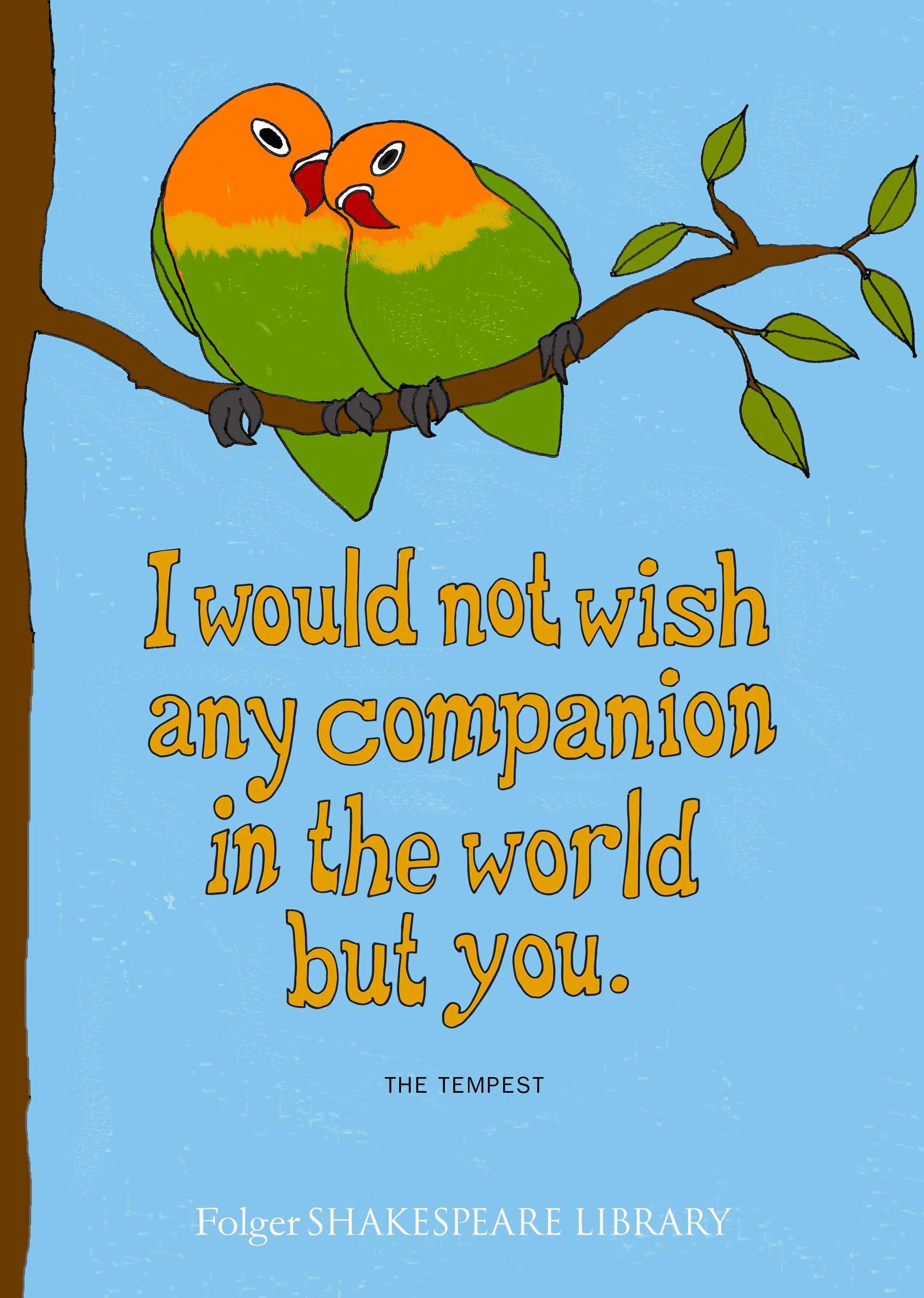 shakespeare quote i would not wish any companion in the world but
