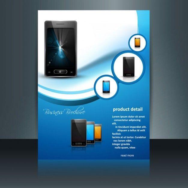 Мобильный телефон брошюра Бесплатные векторы design Pinterest - azure flyer template