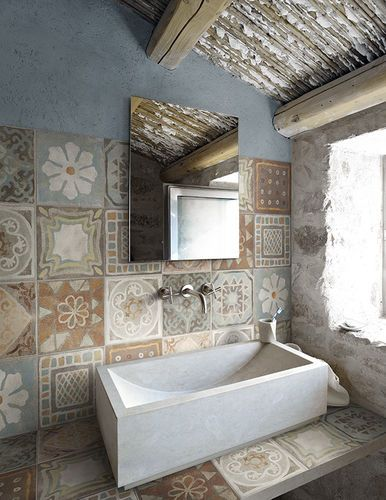Fliese für Innenbereich   für Badezimmer   Boden   Feinsteinzeug - fliesen fürs badezimmer bilder