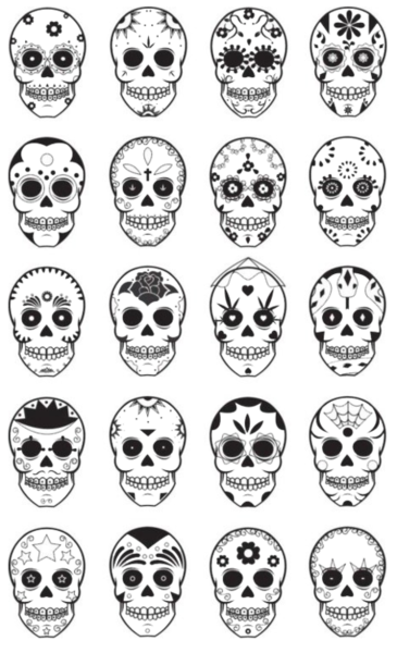 when learning or celebrating dia de los muertos many coloring pages are usually involved with thousands of different ones many students color pictures - Sugar Skull Tattoo Coloring Pages