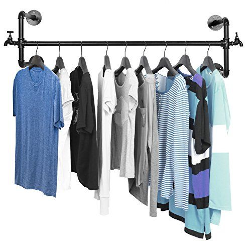 Featuring Antique Style Faucets On Either Side And A Classy Black Finish,  This Clothing Rack Is Memorable And Convenient. Cut Clothing Clutter In  Your Home ...
