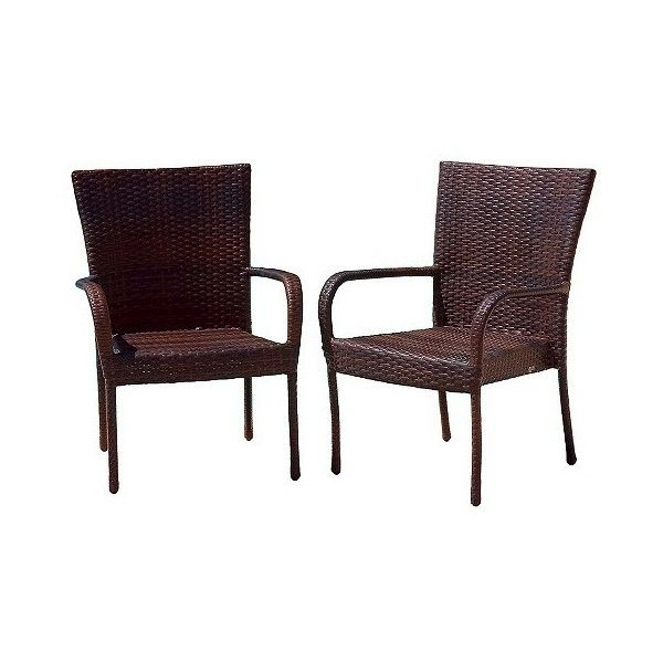 Christopher Knight Home, Set of Wicker Patio Stackable Arm Chair ...
