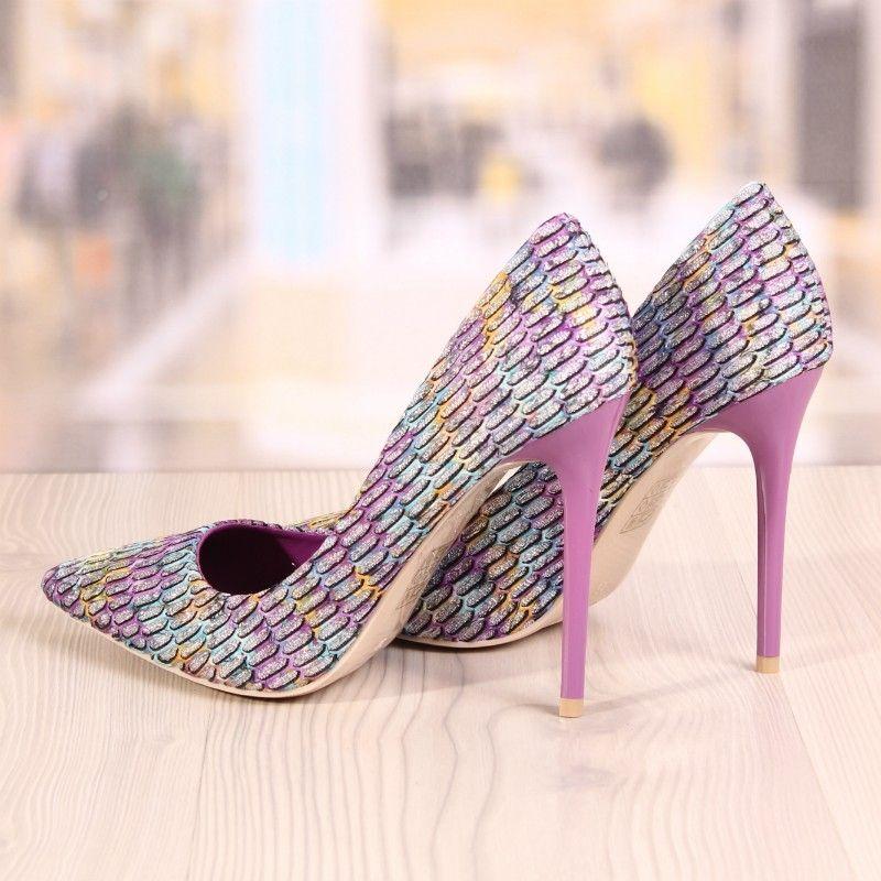 Poze Pantofi Stiletto Dihan Mov Cod: 714