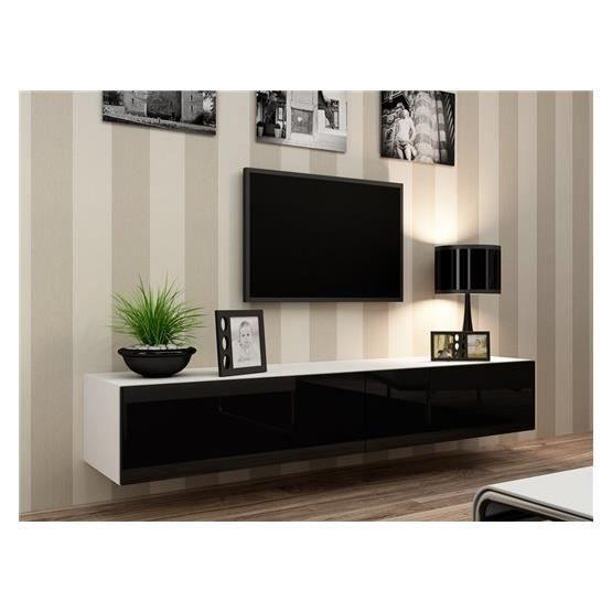 redoutable meuble tv suspendu noir Décoration française Pinterest