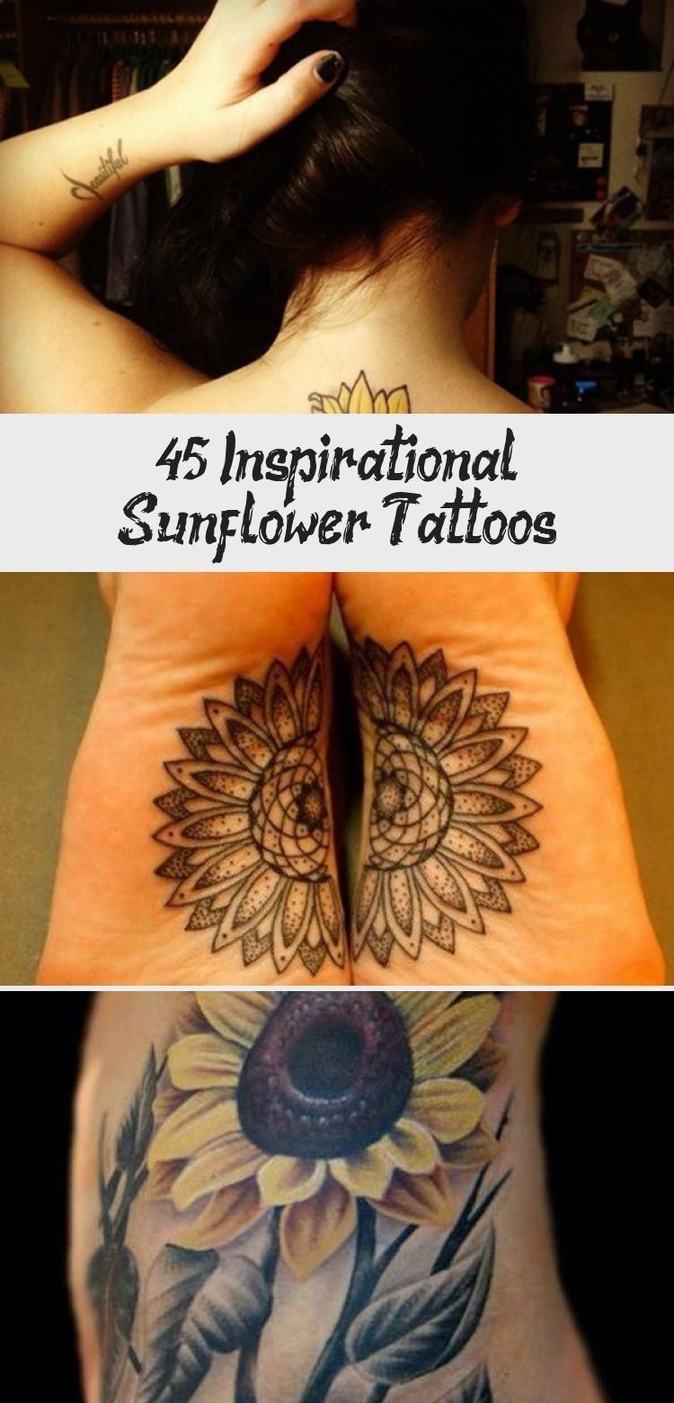 Photo of sunflower tattoo – 45 Inspirational Sunflower Tattoos #Traditionalsunflowertatto…