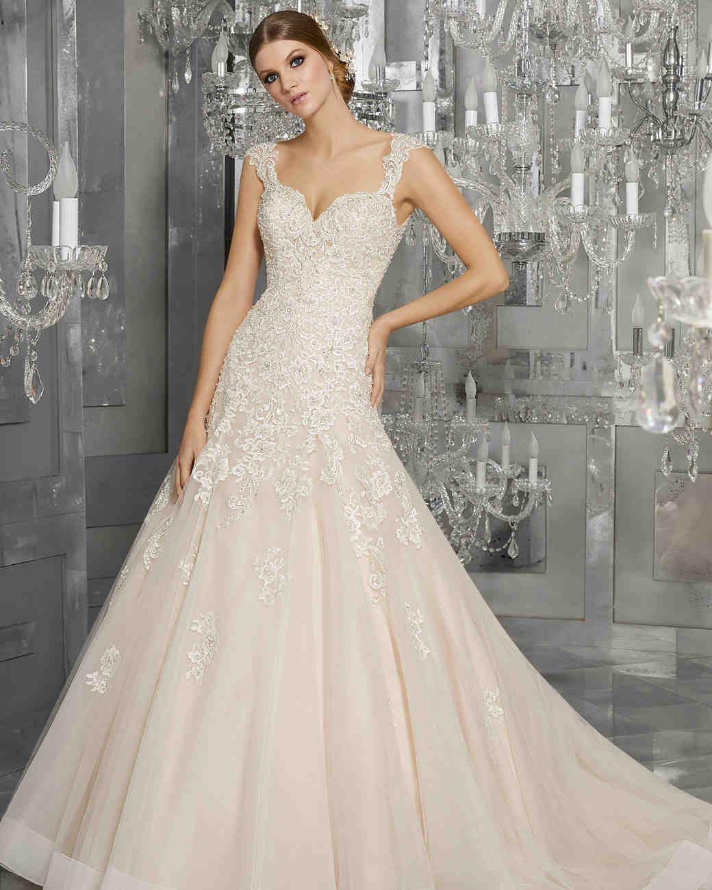 morilee wedding dress spring 2018 v-neck embellished a-line ...