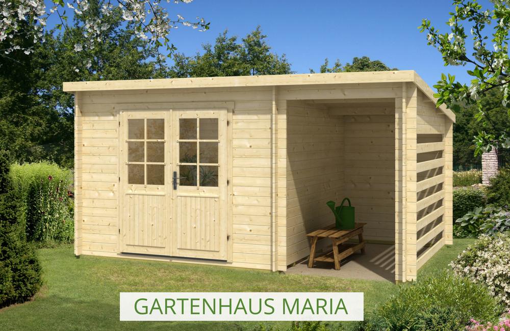 Gartenhaus Maria mit überdachter Terrasse perfekt zum