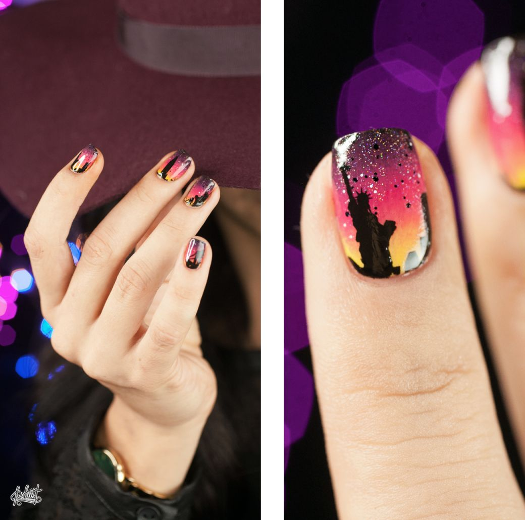 Nail art Skyline avec Maybelline | Vagabond shoes and Maybelline
