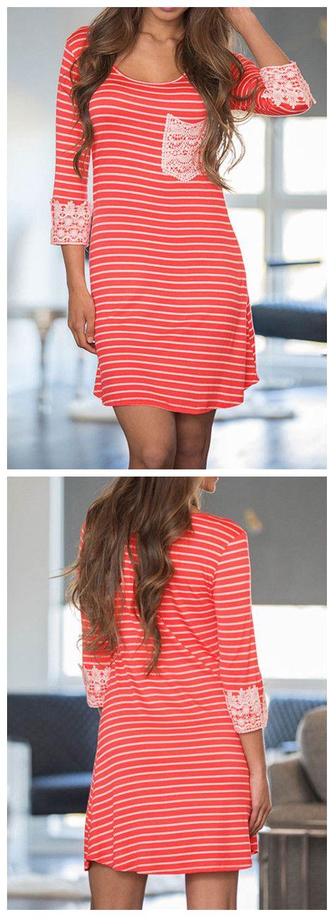 91be8ec15e54ba Pin by Rachel McDonald on clothes   Striped dress, Fashion dresses, Dresses