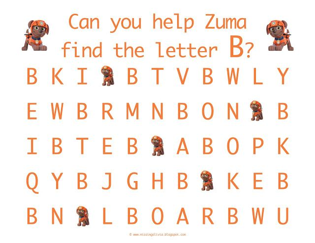 letter recognition with the uppercase letter b with zuma from paw patrol homeschool life as a. Black Bedroom Furniture Sets. Home Design Ideas