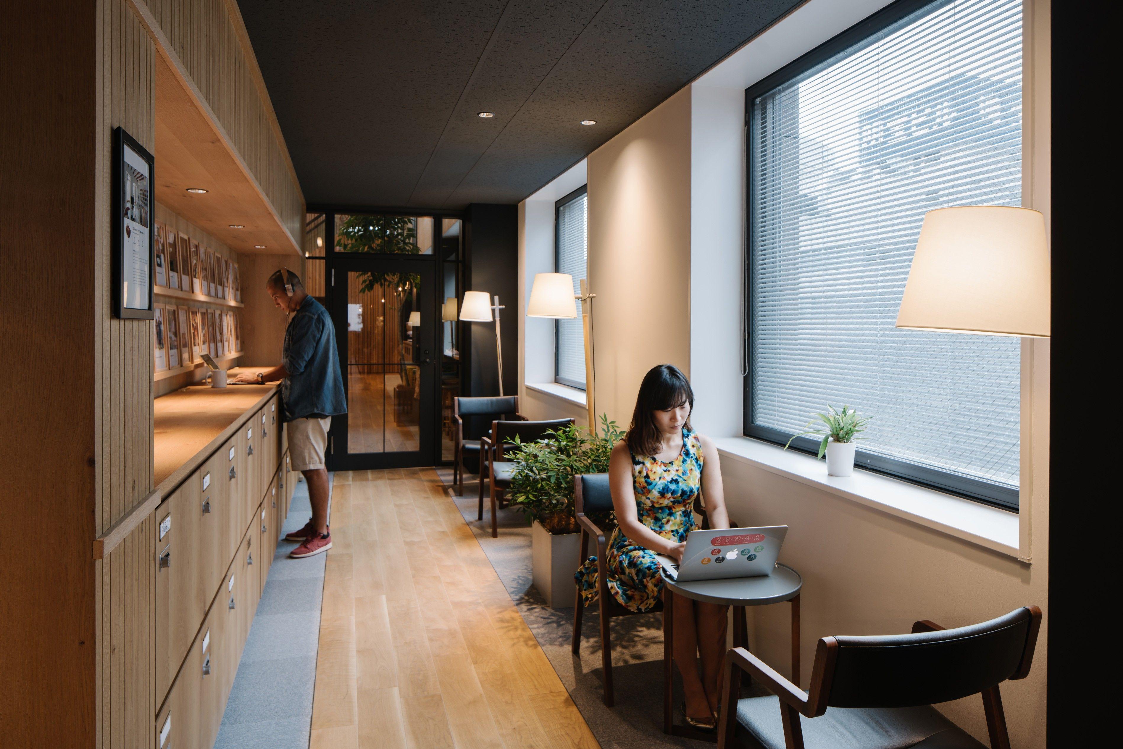 Self-Care | Office interior design. Airbnb office. Design