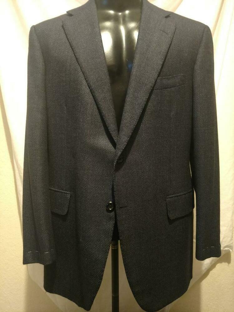 d8d6a773f eBay #Sponsored $2495 BNWT OXXFORD Navy & Blue Wool Weave Pattern 2-but DV