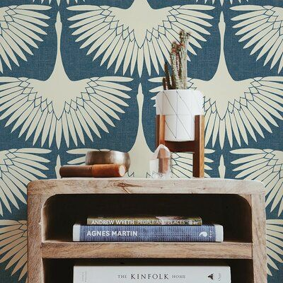 Wrought Studio Mariko Feather Flock 16 5 L X 20 5 W Peel And Stick Wallpaper Roll Wayfair Ca In 2021 Peel And Stick Wallpaper Wallpaper Roll Wallpaper