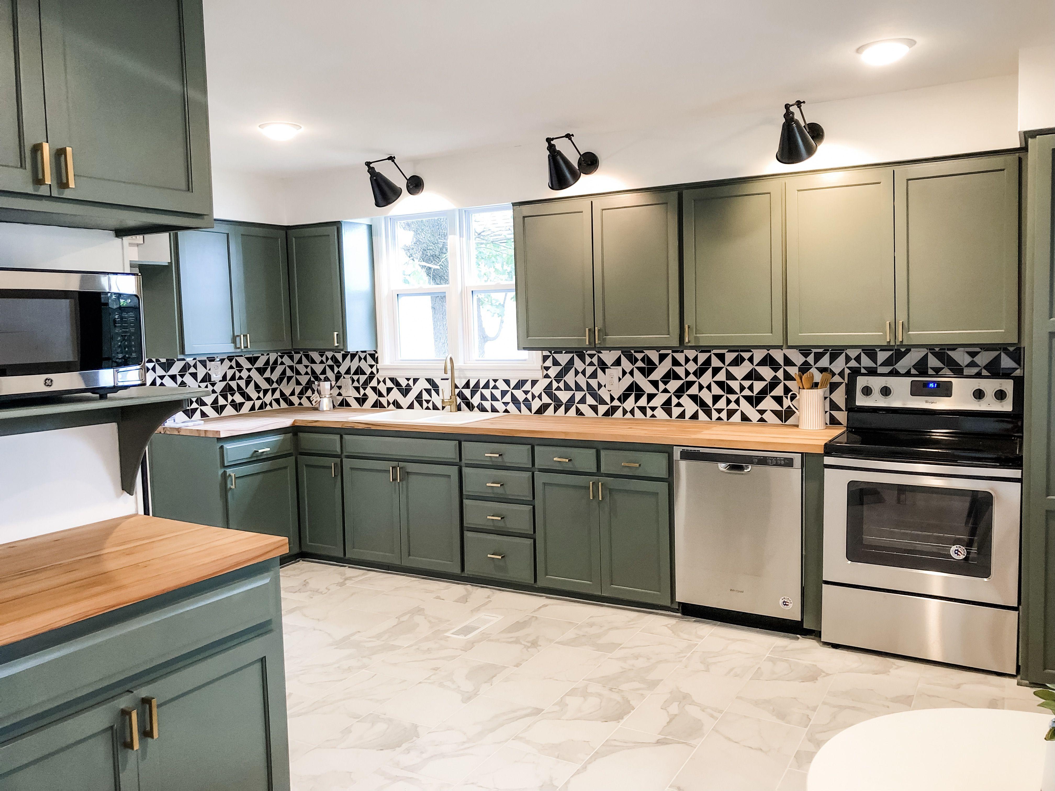 Wall Street Kitchen Kitchen Remodel Small Green Cabinets Green Kitchen Cabinets