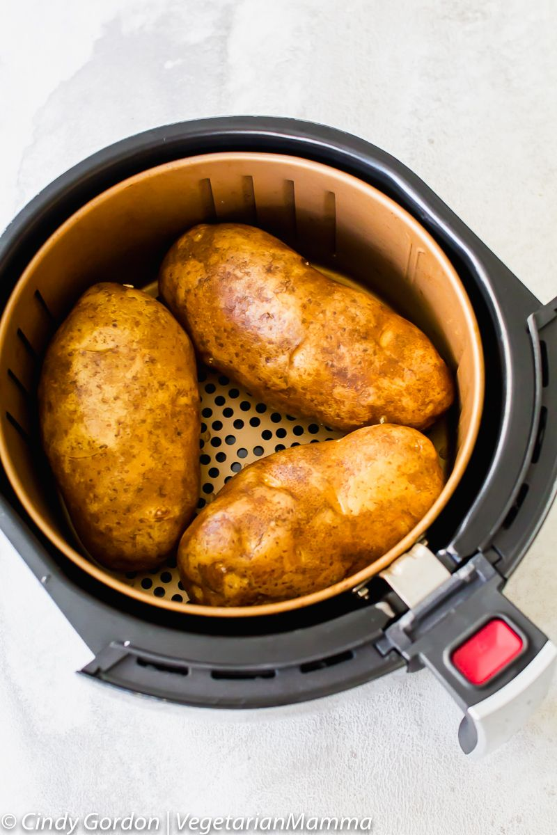 Air Fryer Baked Potatoes an easy air fryer recipes This