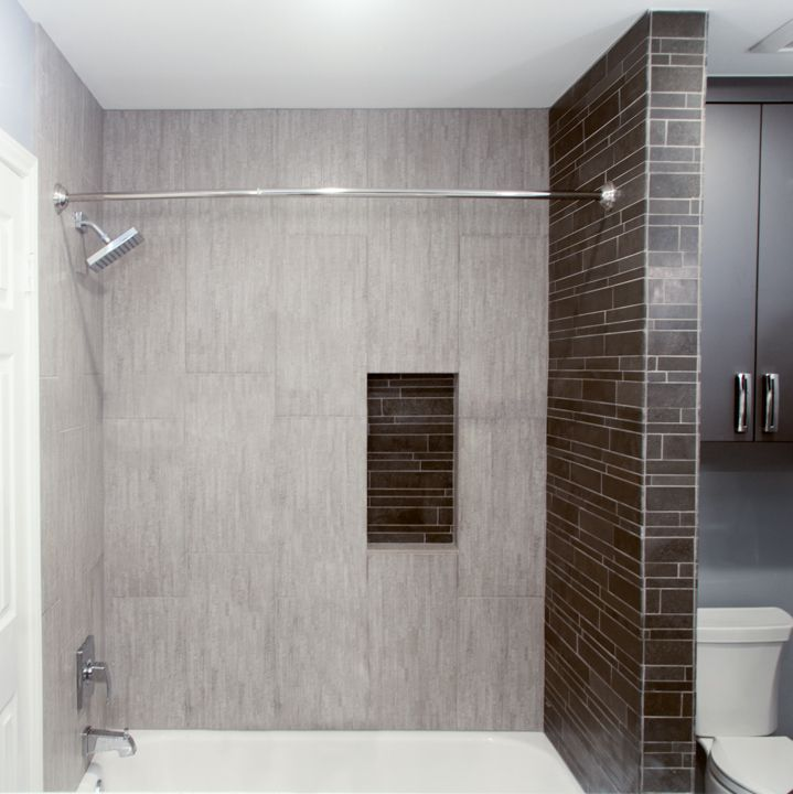 The Light Grey Tile We Used Look In This Shower Area Looks