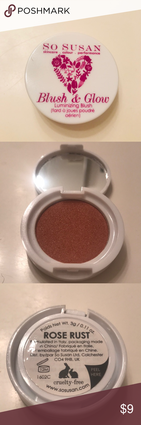 So Susan Blush Glow Luminizing Blush So Susan Blush Glow Rose Rust Brand New Never Used Just Have To Many In My Collection So Blush Makeup Blush Makeup