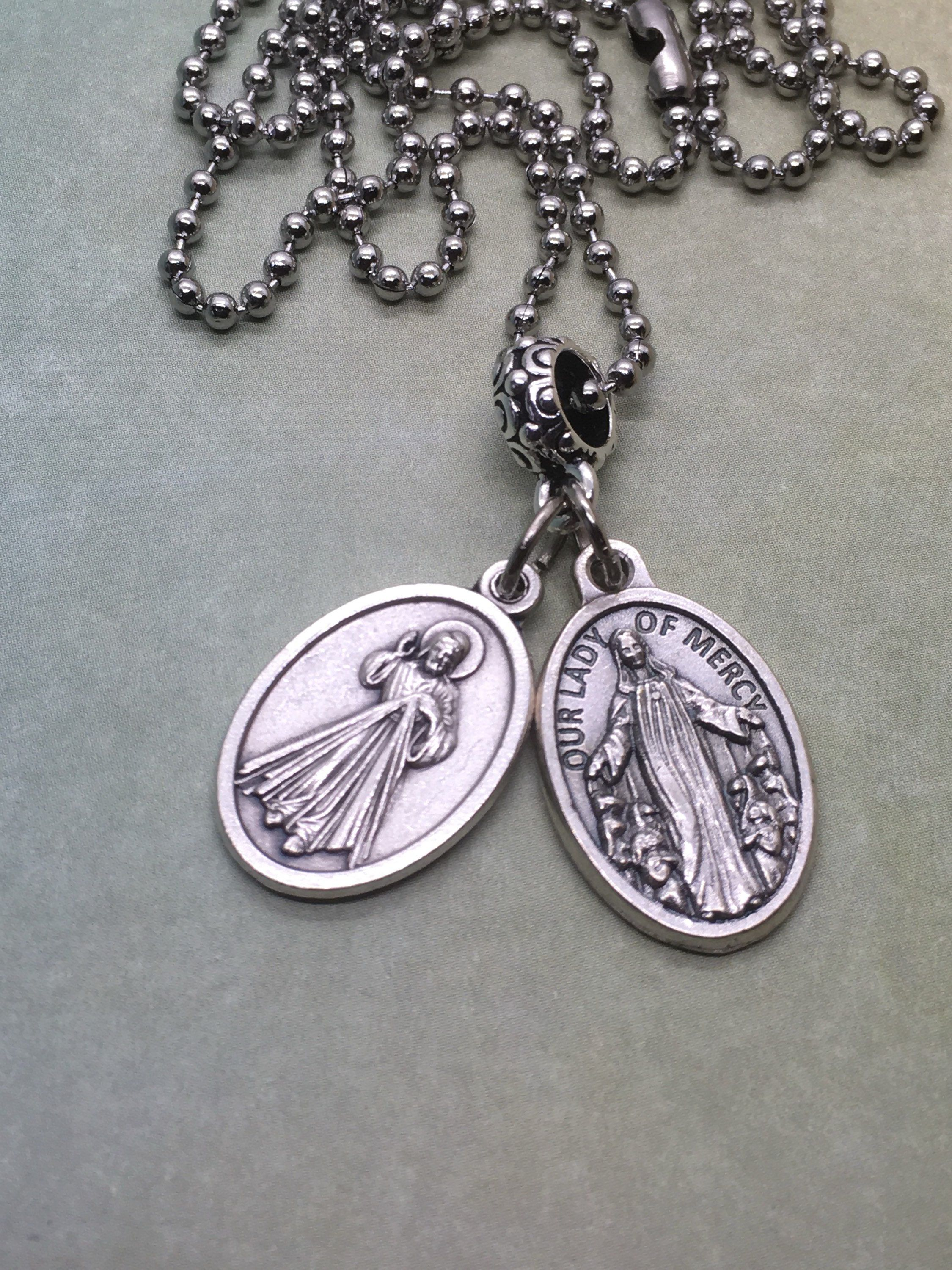 Mercy holy medal necklace 2 styles divine mercy and mother of mercy holy medal necklace 2 styles divine mercy and mother of mercy medals aloadofball Gallery