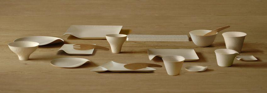 trastes desechables - bamboo + fibra de caña