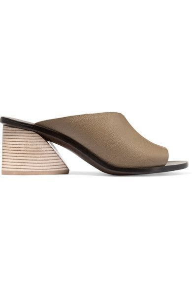 Mercedes Castillo Izar Leather Mules Discount Buy Free Shipping Marketable Outlet Popular MLEl7Ycpb
