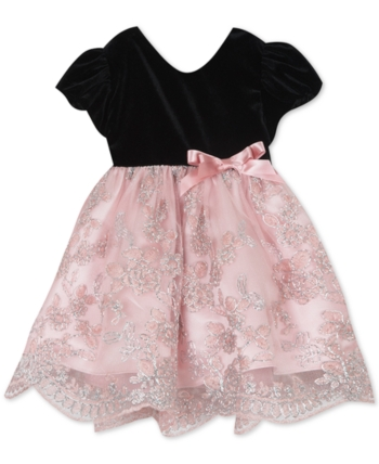 7a93588adb94 Rare Editions Baby Girls Velvet & Lace Dress in 2019   Products ...