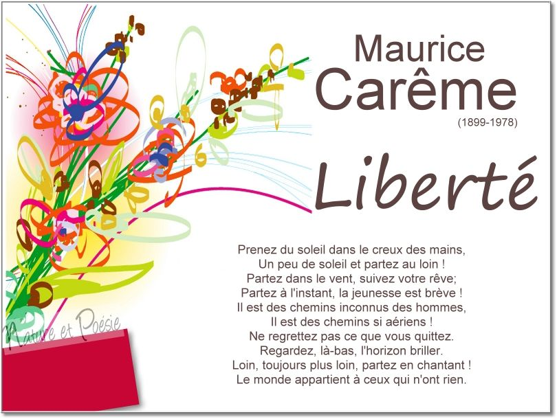 A la rencontre du printemps maurice careme