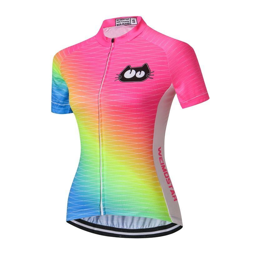 Women/'s Cycling Jersey Short Sleeve Shirt Bike Jersey Sportswear Clothing