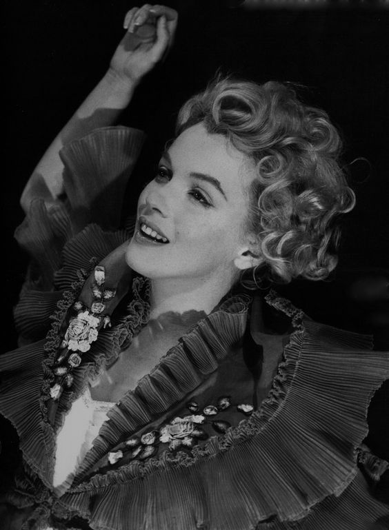 """Marilyn in a publicity still for """"The Prince And The Showgirl"""" by Milton Greene"""