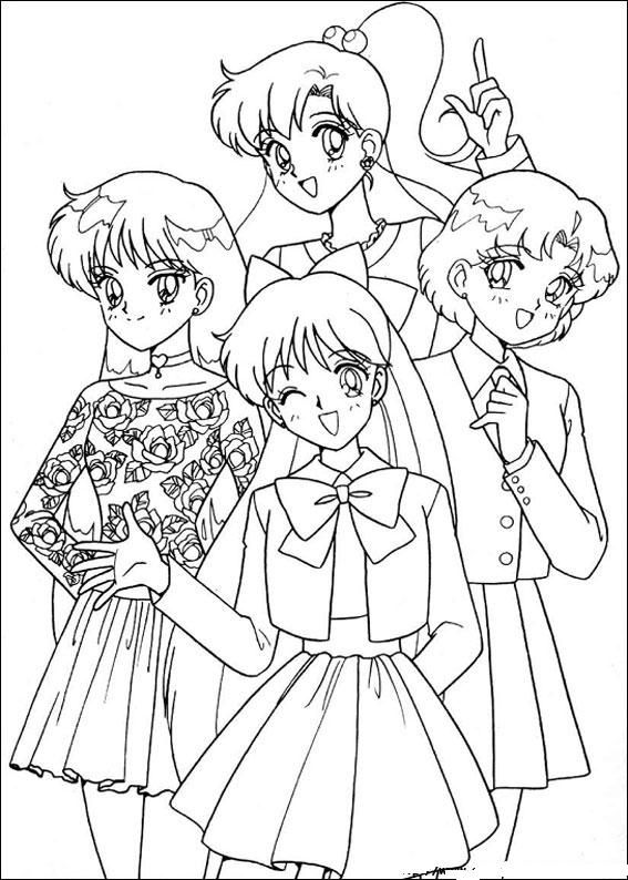 colorama coloring pages  google search  sailor moon