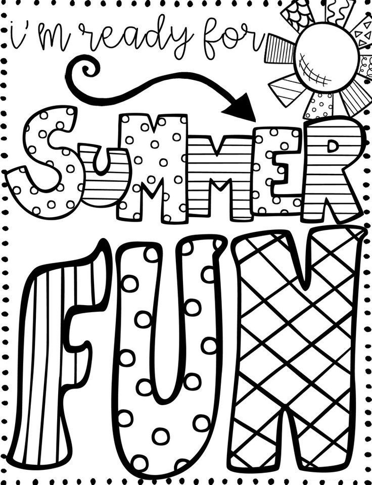 June Coloring Pages Summer coloring pages, Summer