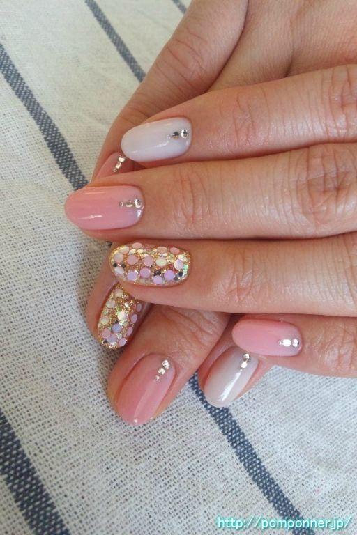 pink nail simple design