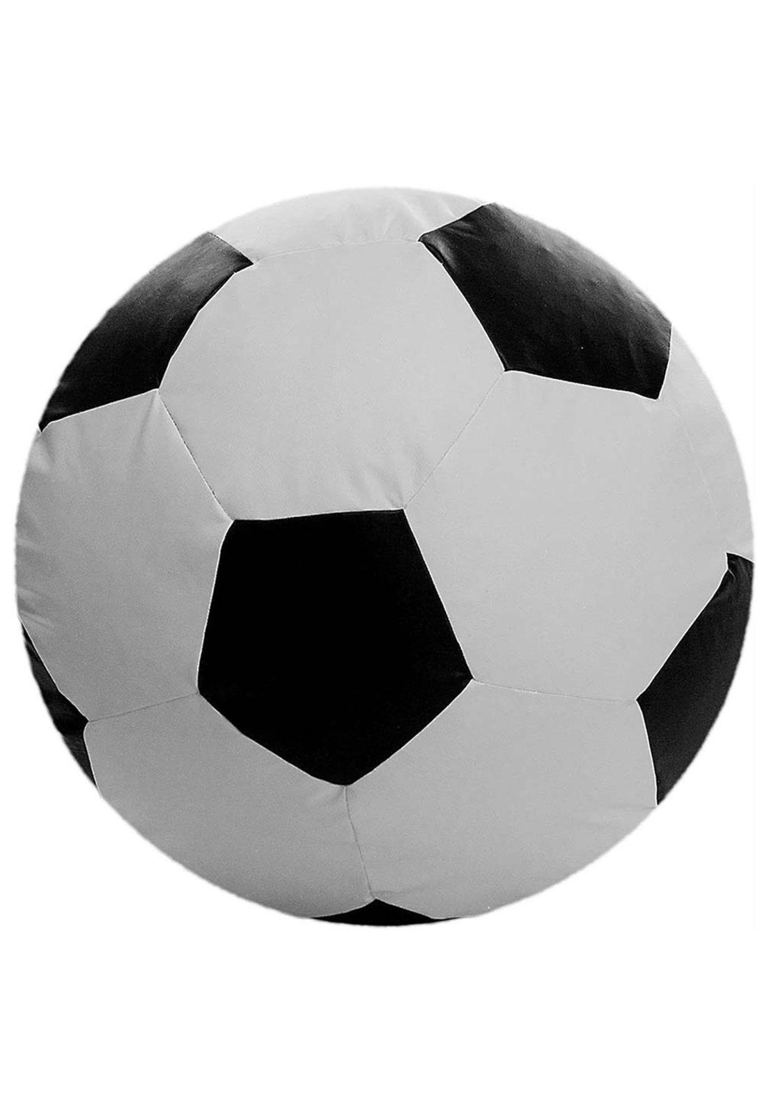 Puff Big Ball Futebol Pop Cipaflex Branco E Preto Stay Puff Stay