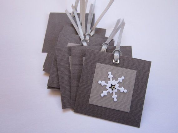 Handmade Christmas Tags  Snowflake Gift Tags  by ElodiesShop