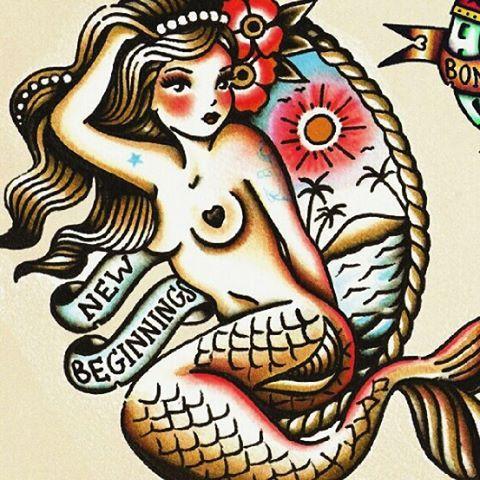 Traditional Mermaid Tattoo Google Search Neo Traditional Tattoo