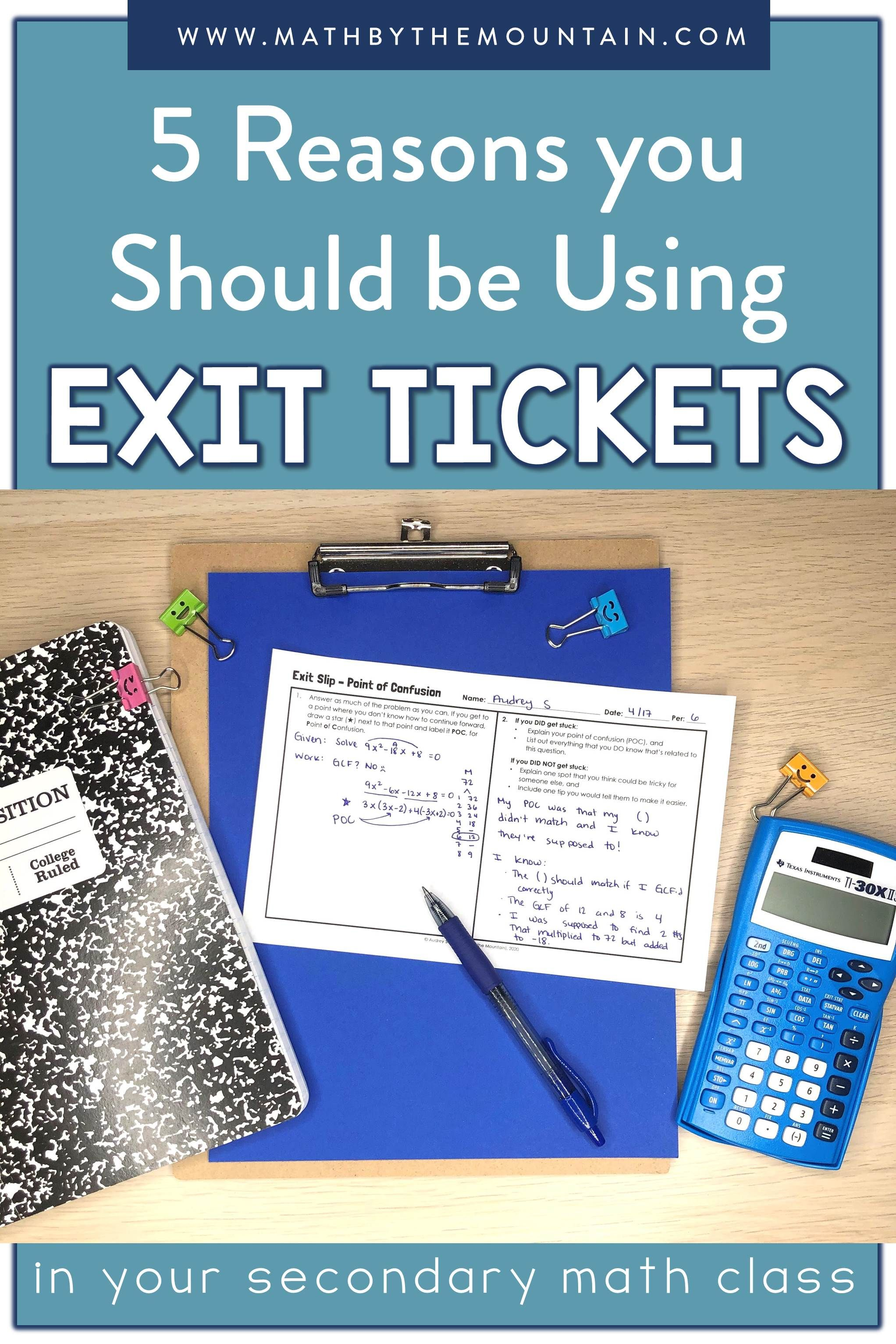 5 Reasons You Should Be Using Exit Tickets In Middle
