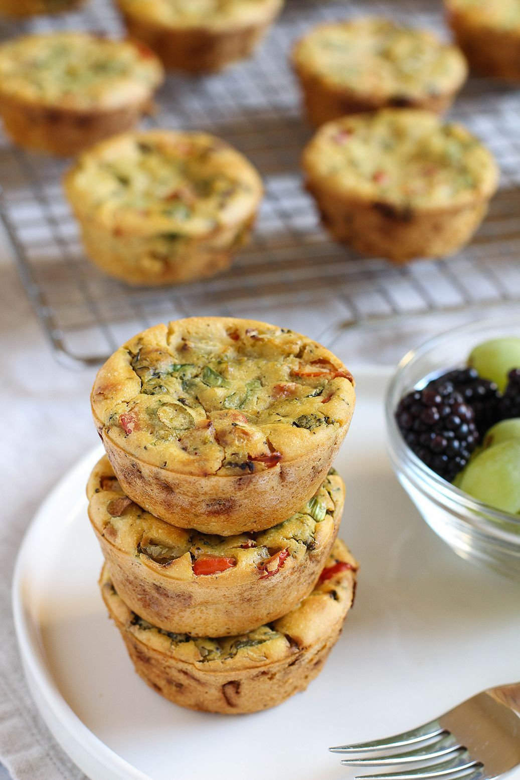 Chickpea Flour Mini Veggie Frittatas High protein vegan