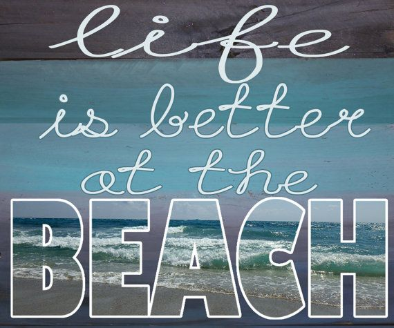 Life is Better at the Beach Print from by PurposelyDesigned, $20.00