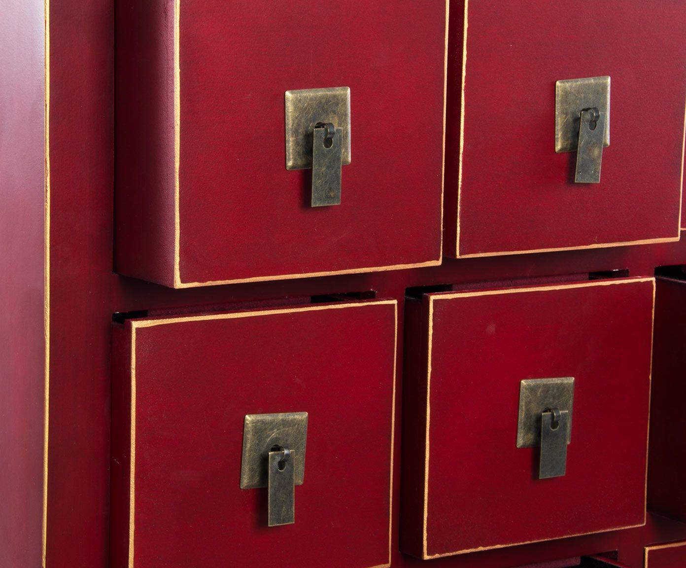Mobili Dalani ~ Mobile a cassetti in mdf rosso cm dalani home