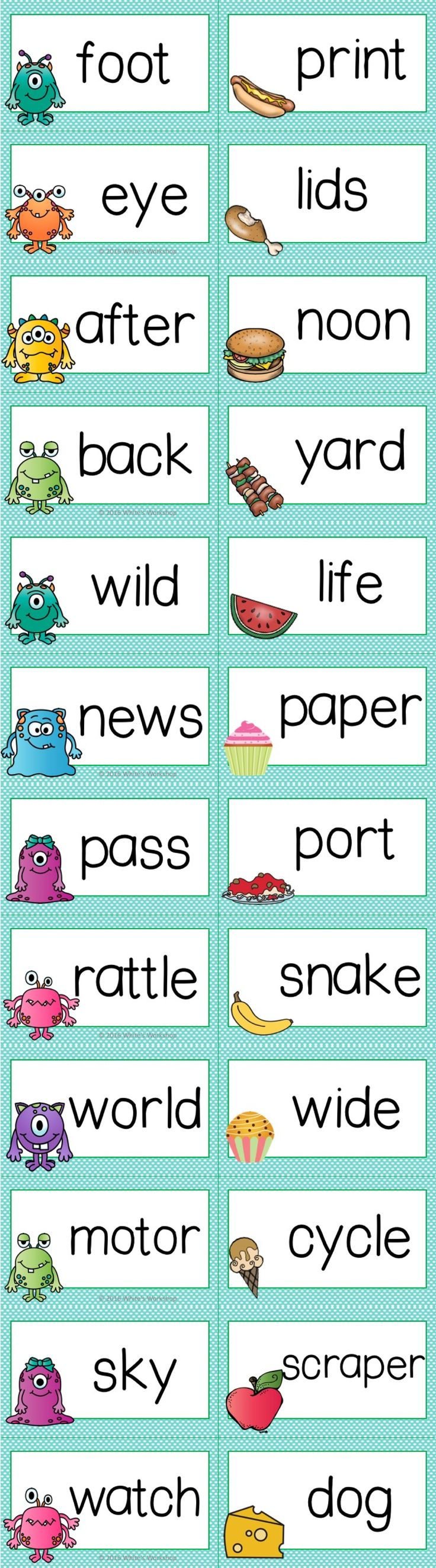 Compound Words Center Activities Compound Words Health Lesson Plans Elementary Health Lessons [ 2649 x 736 Pixel ]