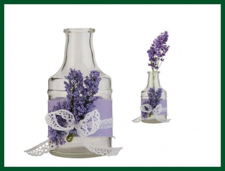 dekoflasche lavendel 2er set flasche lila glas hochzeit kristin pinterest lavendel. Black Bedroom Furniture Sets. Home Design Ideas