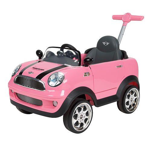 Push Mini Pink Cooper Car