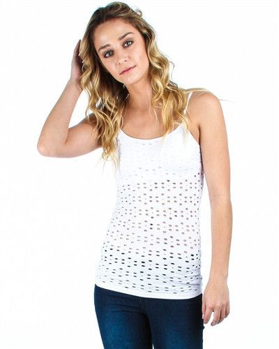 White tank top with flower openings and built in bra products white tank top with flower openings and built in bra mightylinksfo