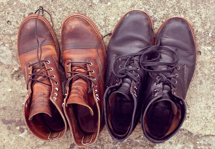 270fbe22157 Left: Red Wing - Iron Ranger / Right: Wolverine - 1000 Mile Boot ...