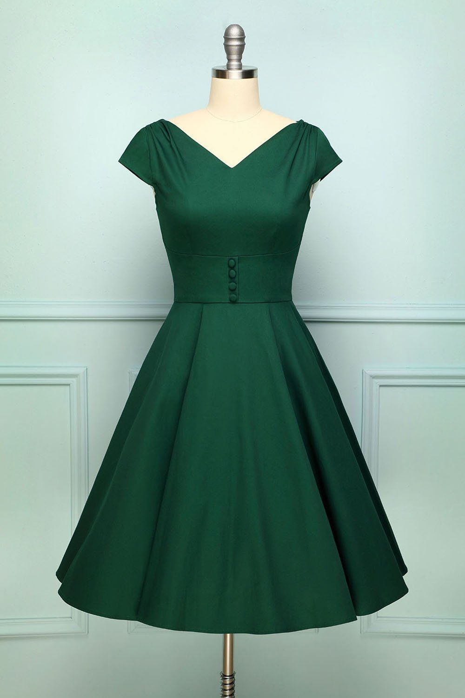 Grünes 13er Kleid in 13  Grünes kleid, Dunkelgrüne kleider