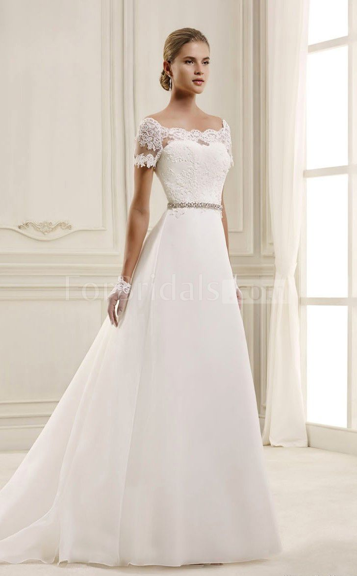 A line cap sleeve wedding dress  wedding dresses with sleeves u  Pinteresu
