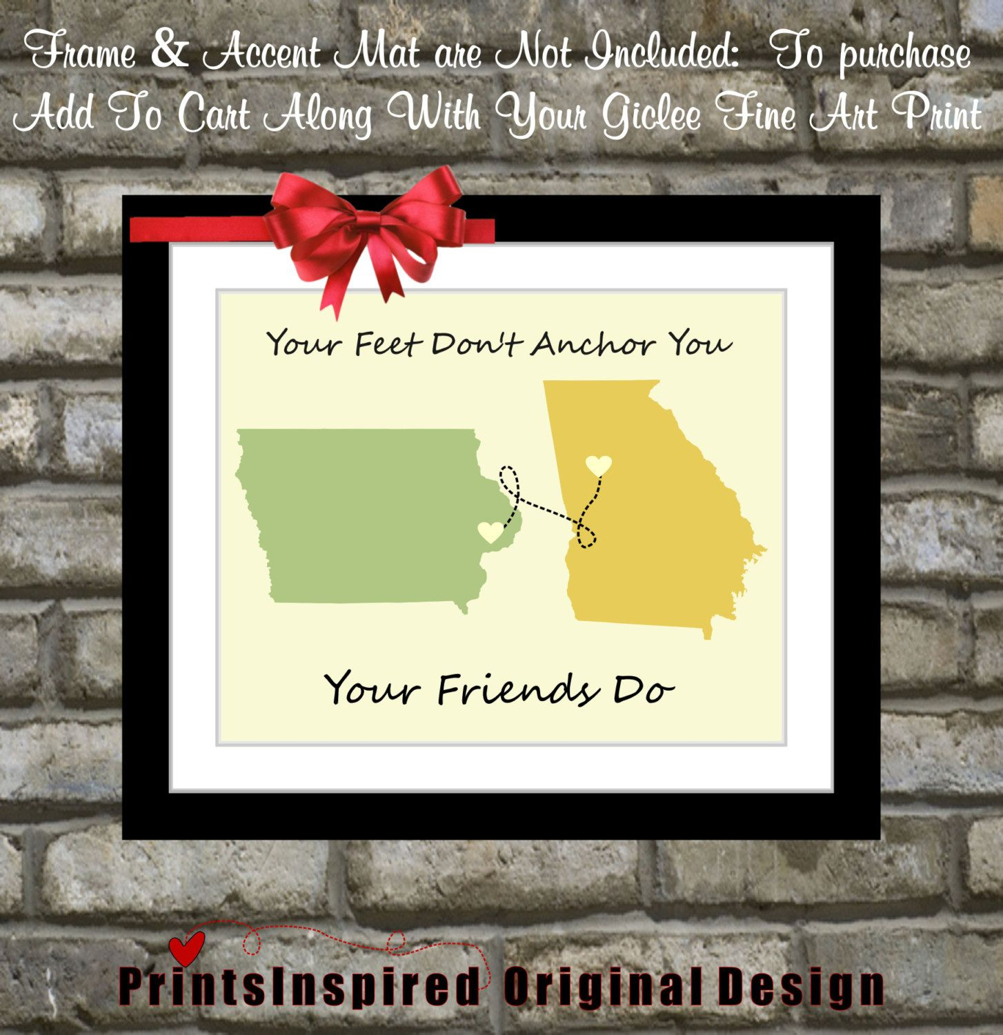Gifts For Best Friends Unique Birthday Gift By Printsinspired 2399