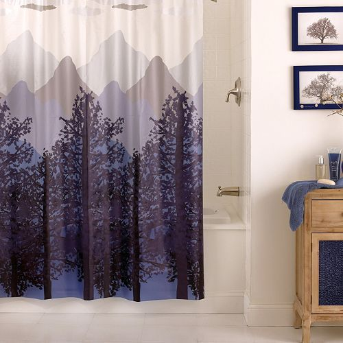 Excell Misty Mountain Peva Shower Curtain Shower Curtains And