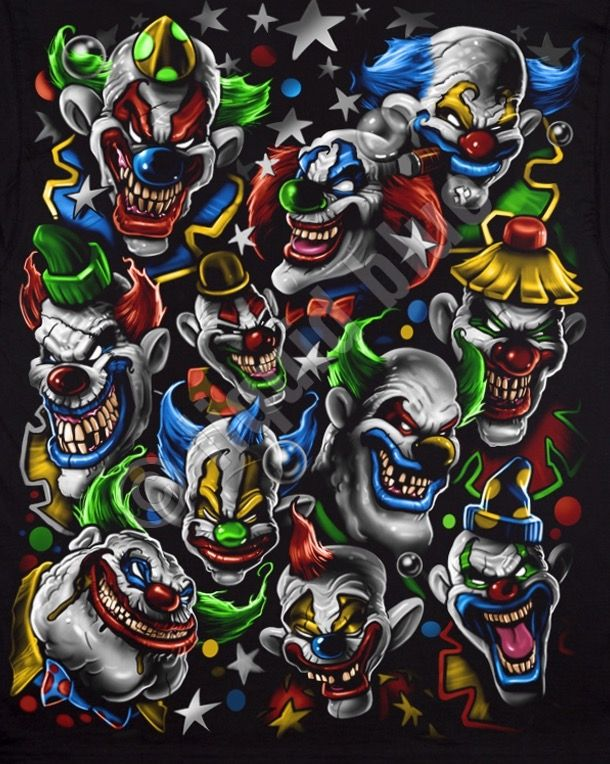 The 11 Crazy Psycho Clowns Clown Tattoo Evil Clown Tattoos Evil Clowns